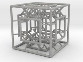 Menger Mixed Cube in Aluminum