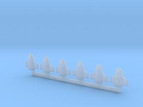 "Omni Scale Klingon Z-D ""Zerdon"" Fighters MGL in Smooth Fine Detail Plastic"