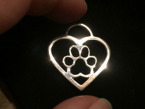 Puppy Love #4 in Polished Silver