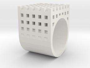 kengo kuma ring in White Natural Versatile Plastic: 1.5 / 40.5