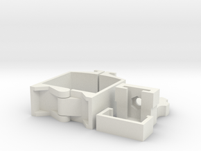 360 Camera Mount for Mavic Air (Top Mount) in White Natural Versatile Plastic