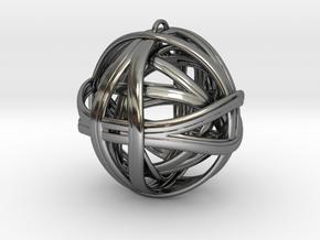 Geometric Bundle Pendant in Fine Detail Polished Silver