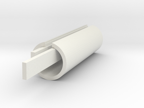 Square seat stay connector core left in White Natural Versatile Plastic
