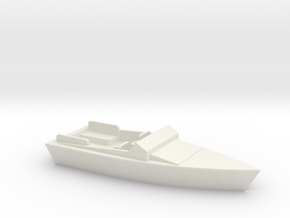 OO Scale Speed Boat in White Natural Versatile Plastic