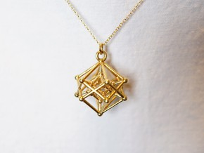 Introspection Pendant in Natural Brass