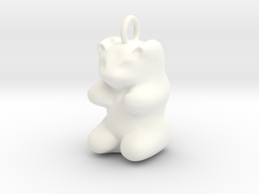 pendant: Kinder Froh  in White Processed Versatile Plastic