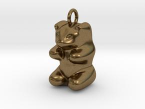 pendant: Kinder Froh  in Natural Bronze