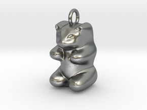 pendant: Kinder Froh  in Natural Silver