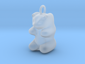 pendant: Kinder Froh  in Smooth Fine Detail Plastic