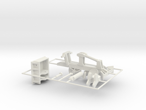 1/25th Fesco Type Fire Plow for Bulldozers in White Natural Versatile Plastic