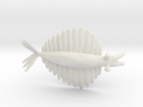 Anomalocaris in White Natural Versatile Plastic