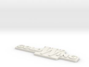 GoldWing (Side cover) Letters in White Natural Versatile Plastic