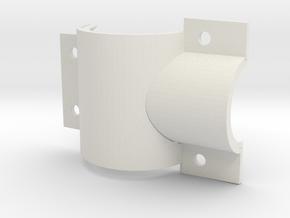 Tshell top tube left (1) in White Natural Versatile Plastic