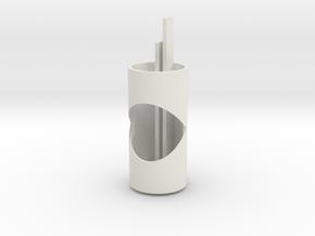 EC 44 Head Tube T Core, Top in White Natural Versatile Plastic