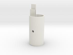 EC44 Head Tube X core Center in White Natural Versatile Plastic