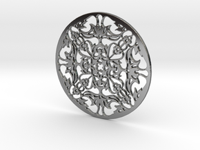 Lace in Fine Detail Polished Silver