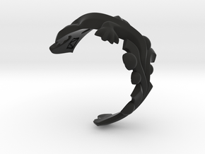 Diplocaulus Ring -Small- (Free-size) in Black Premium Strong & Flexible