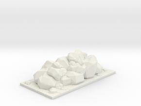 HeroQuest Rocks Block 2x1 in White Natural Versatile Plastic
