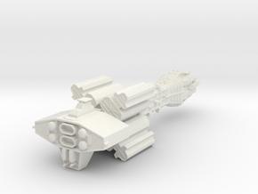 Earthforce Tantalus Assault Cruiser 122mm in White Natural Versatile Plastic