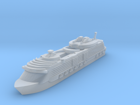 Miniature Harmony of the Seas Cruise Ship - 10cm in Smooth Fine Detail Plastic