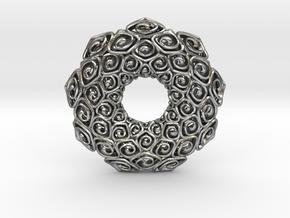 Java Bunga Pendant  in Natural Silver