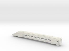 ETR610  Carriage 1 Bodyshell Z, N and TT in White Natural Versatile Plastic: 1:120 - TT