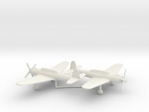 Nakajima B6N2 1:200 x2 in White Natural Versatile Plastic