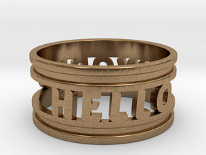 Create Your Own Ring! in Natural Brass: 4 / 46.5