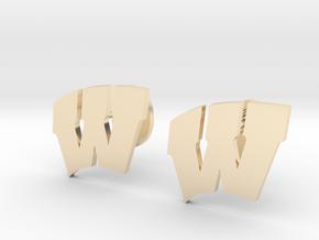 Univeristy of Wisconsin Cufflinks, Customizable in 14K Yellow Gold