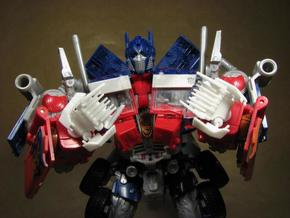 ROTF Leader Optimus Prime knuckle hands in White Natural Versatile Plastic