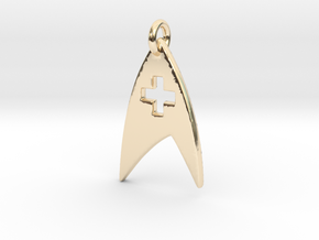 Star Trek - Starfleet Medical (Pendant) in 14k Gold Plated Brass