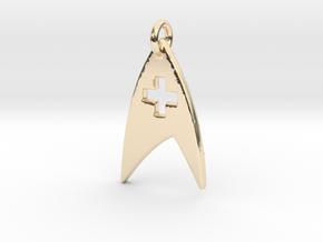 Star Trek - Starfleet Medical (Pendant) in 14k Gold Plated Brass