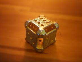 Plate D6 in Polished Gold Steel