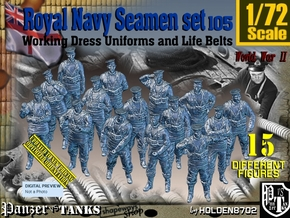 1/72 Royal Navy Seamen Set105 in Smooth Fine Detail Plastic