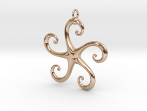 5Star in 14k Rose Gold Plated Brass