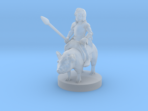 Halfling Cavalier with Piggy in Smooth Fine Detail Plastic