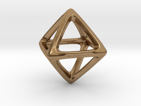 Octahedron Platonic Solid in Natural Brass