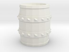Barrel - Tabletop RPG in White Natural Versatile Plastic
