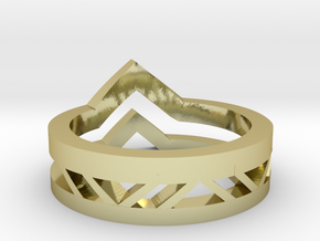 Tri-Ring in 18k Gold Plated Brass