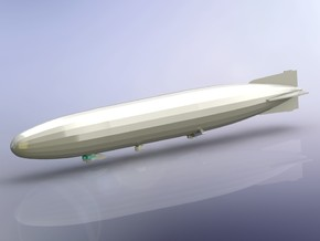 German Airship Zeppelin L42 (LZ91) 1/1800  in Smooth Fine Detail Plastic