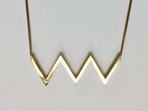 Zig Zag_Pendant in Polished Brass