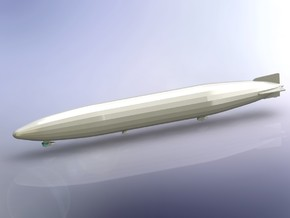 German Airship Zeppelin L59 (LZ104) 1/1800  in Smooth Fine Detail Plastic