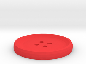 Customizable 1.5in Button in Red Processed Versatile Plastic