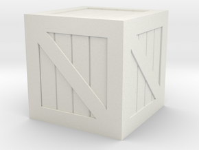 Crate 28mm Scale in White Natural Versatile Plastic