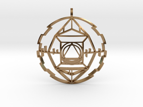 Golden Potentiator (Domed) in Natural Brass