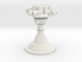 Power Tower part 1 Base in White Natural Versatile Plastic