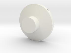 Disc Probe Side Hole Rev 2 in White Natural Versatile Plastic