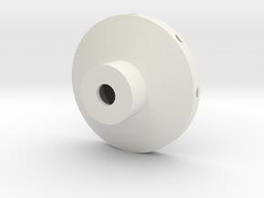 Disc Probe End Hole Rev 2 in White Natural Versatile Plastic