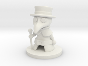 Plague Doctor in White Natural Versatile Plastic
