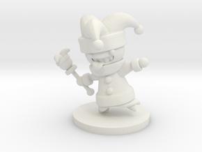 Jester (Beta) in White Premium Versatile Plastic